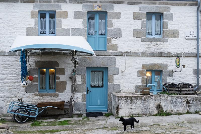 France, Finistere (29), Ile-de-Sein, maison typique du bourg