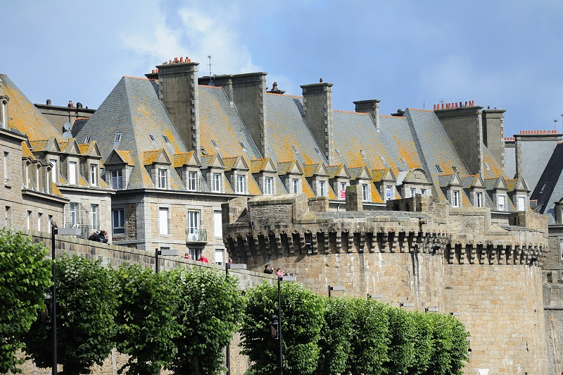Cite d'Art. Les remparts de Saint-Malo intra-muros